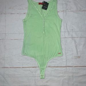 N:Philanthropy Iced Lime sleeveless bodysuit